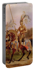 Lord Of The Tournament Portable Battery Charger by Edward Henry Corbould