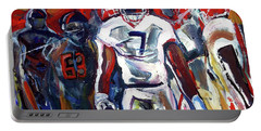 Portable Battery Charger featuring the painting Lorenzo Control by John Jr Gholson