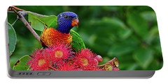 Lorikeet And Gum Nut Blossoms By Kaye Menner Portable Battery Charger