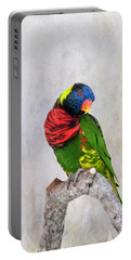 Lorikeet Greeting Portable Battery Charger