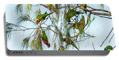 Lorikeets Swarming From Tree To Tree Portable Battery Charger