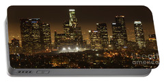 Los Angeles At Night Panorama 4 Portable Battery Charger by Bob Christopher