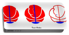 Portable Battery Charger featuring the digital art Los Angeles Clippers Logo Redesign Contest by Tamir Barkan