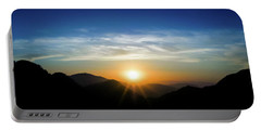 Los Angeles Desert Mountain Sunset Portable Battery Charger