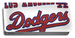 Los Angeles Dodgers Portable Battery Charger by Gina Dsgn