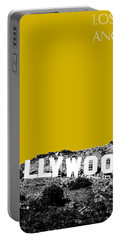 Los Angeles Skyline Hollywood - Gold Portable Battery Charger