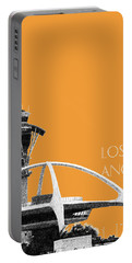 Los Angeles Skyline Lax Spider - Orange Portable Battery Charger