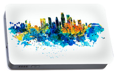 Los Angeles Skyline Portable Battery Charger by Marian Voicu