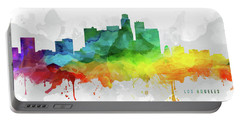 Los Angeles Skyline Mmr-uscala05 Portable Battery Charger by Aged Pixel