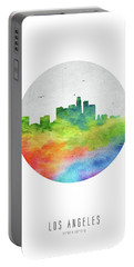 Los Angeles Skyline Uscala20 Portable Battery Charger by Aged Pixel