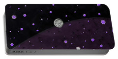 Lost In Midnight Charcoal Stars Portable Battery Charger