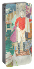 Portable Battery Charger featuring the drawing Lost In Millwood by Arlene Crafton