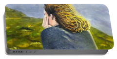 Lost In Thought Portable Battery Charger by Karyn Robinson