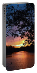 Lost Sunset Portable Battery Charger by J R Seymour