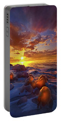 Lost Titles, Forgotten Rhymes Portable Battery Charger by Phil Koch