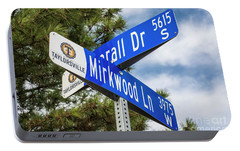 Portable Battery Charger featuring the photograph Lotr Mirkwood Street Signs by Gary Whitton