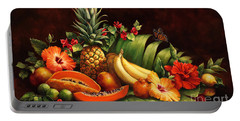 Lots Of Fruit Portable Battery Charger by Laurie Hein