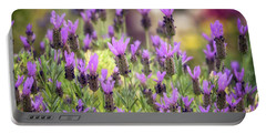 Portable Battery Charger featuring the photograph Lots Of Lavender  by Saija Lehtonen