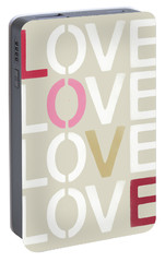 Portable Battery Charger featuring the mixed media Lots Of Love- Art By Linda Woods by Linda Woods