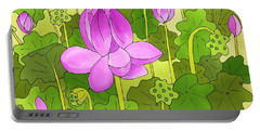 Lotus And Waterlilies Portable Battery Charger