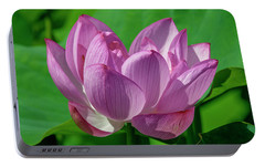 Portable Battery Charger featuring the photograph Lotus Beauty--buxom Beauty I Dl0089 by Gerry Gantt