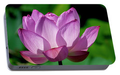 Portable Battery Charger featuring the photograph Lotus Beauty--buxom Beauty II Dl0090 by Gerry Gantt