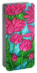 Lotus Bliss Portable Battery Charger