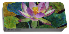 Lotus Bloom Portable Battery Charger by Hailey E Herrera