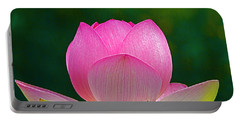 Portable Battery Charger featuring the photograph Lotus Blossom 842010 by Byron Varvarigos