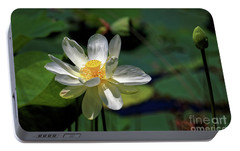 Portable Battery Charger featuring the photograph Lotus Blossom by Paul Mashburn