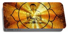 Lotus Buddha By Sarah Kirk Portable Battery Charger