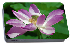 Portable Battery Charger featuring the photograph Lotus--center Of Being--protective Covering I Dl0087 by Gerry Gantt