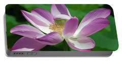 Lotus--center Of Being--protective Covering I Dl0087 Portable Battery Charger by Gerry Gantt