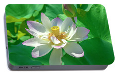 Portable Battery Charger featuring the photograph Lotus--fading I Dl0079 by Gerry Gantt