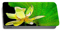 Lotus Flower, Digtal Art Portable Battery Charger