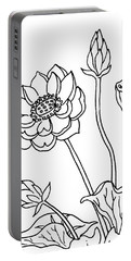 Lotus Flowers Drawing  Portable Battery Charger