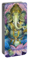 Lotus Ganesha Portable Battery Charger