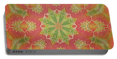 Portable Battery Charger featuring the drawing Lotus Garden by Mo T