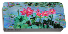 Lotus Portable Battery Charger by Alexandra Maria Ethlyn Cheshire
