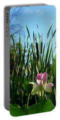 Portable Battery Charger featuring the photograph Lotus Landscape 2 by Buddy Scott
