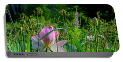 Portable Battery Charger featuring the photograph Lotus Landscape 3 by Buddy Scott