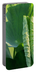 Portable Battery Charger featuring the photograph Lotus Leaf 2017  3 by Buddy Scott