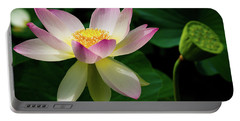 Lotus Lily In Its Final Days Portable Battery Charger