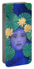 Lotus Nature Portable Battery Charger by Sue Halstenberg