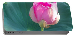 Lotus Pink Portable Battery Charger