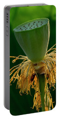 Portable Battery Charger featuring the photograph Lotus Pod 2017 3 by Buddy Scott