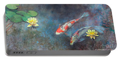 Lotus Pool Portable Battery Charger by Lori McNee