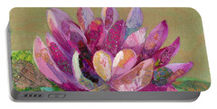 Portable Battery Charger featuring the painting Lotus Series II - 4 by Shadia Derbyshire