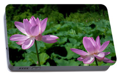 Portable Battery Charger featuring the photograph Lotus--sisters II Dl0083 by Gerry Gantt