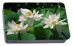 Portable Battery Charger featuring the photograph Lotus--sisters Iv Dl0085 by Gerry Gantt